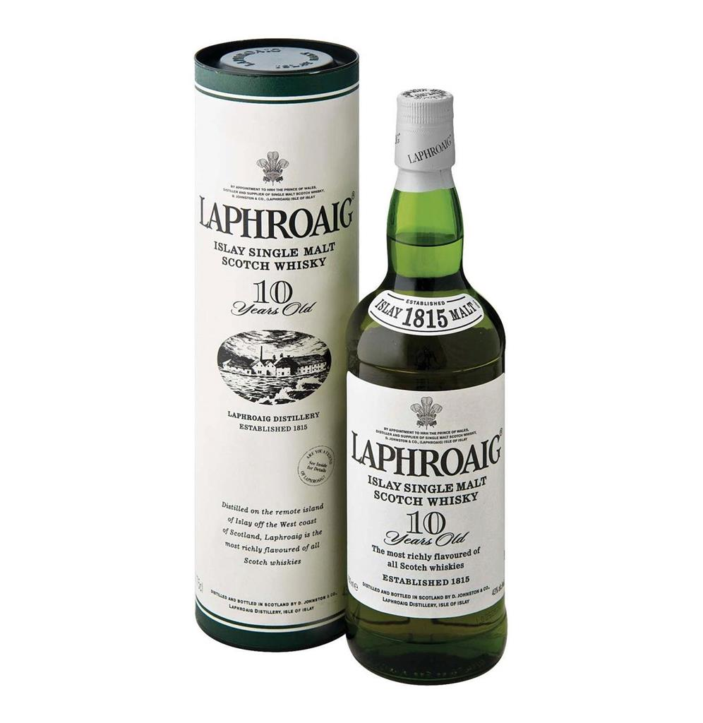 LAPHROAIG 10YO WHISKY 750ML
