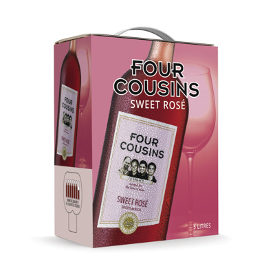 FOUR COUSINS NATURAL SWEET ROSE 5L