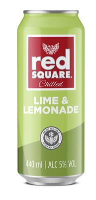 RED SQUARE LIME & LEMONADE 440ML CAN