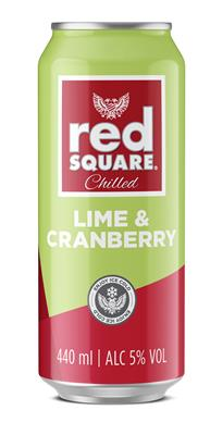 RED SQUARE LIME & CRANBERRY 440ML CAN