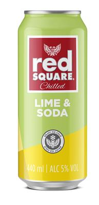 RED SQUARE LIME & SODA 440ML CAN