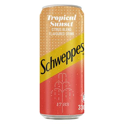 SCHWEPPES TROPICAL SUNSET 330ML CAN