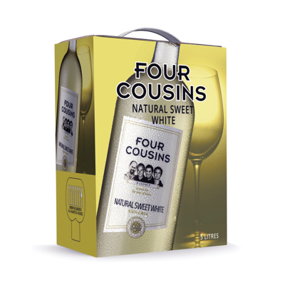 FOUR COUSINS NATURAL SWEET WHITE 5L