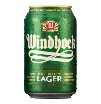 WINDHOEK LAGER CANS 330ML